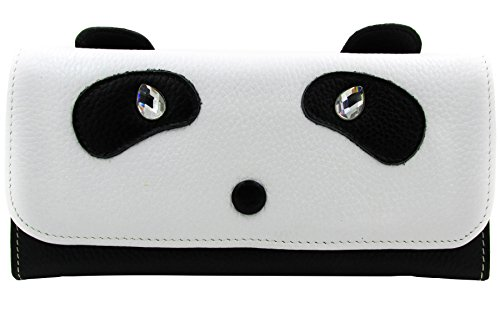 ArtsEye Genuine Leather Cute Panda Envelop Wallet Clutch (Style A)