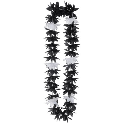 (Silk 'N Petals Lotus Lei (black & white) Party Accessory  (1 count))