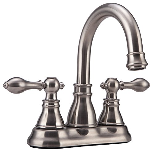 Derengge F-4501-BN Two Handles Brush Nickel Bathroom Faucet with Pop up Drain,cUPC NSF AB1953 ()