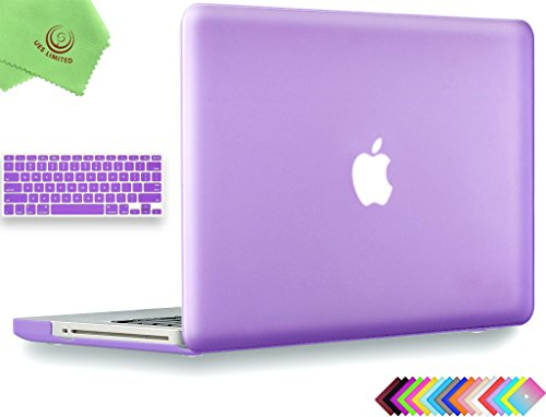 UESWILL 2in1 Smooth Soft-Touch Matte Frosted Hard Shell Case with Silicone Keyboard Cover for MacBook Pro 13