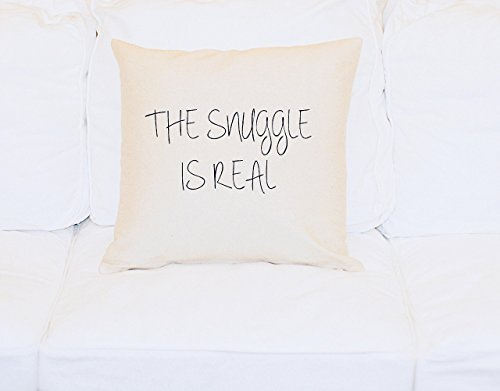 Throw Pillow The Snuggle Is Real, 18x18 Pillow Cover, Decorative Pillow With Saying, Cushion, Love