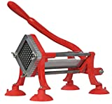 VIVO Commercial Grade Red 1/2'' French Fry Cutter with Suction Feet/Potato Slicer / 1/2 inch Blade (CUTR-F12)