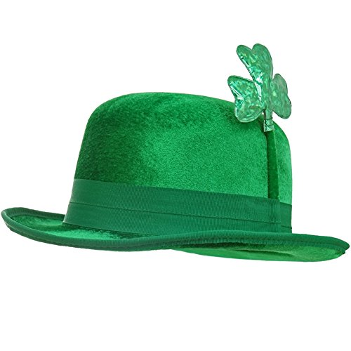 St. Patrick's Day - Green Bowler Hat Green One Size (Drunk 1 Costume Tshirt)