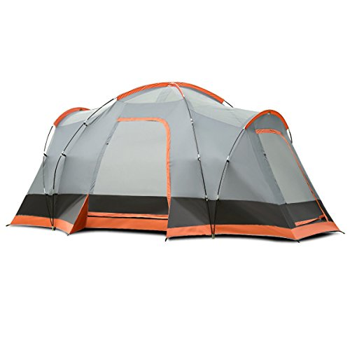 Heize Best Price Orange And Gray Portable 8 Person Family
