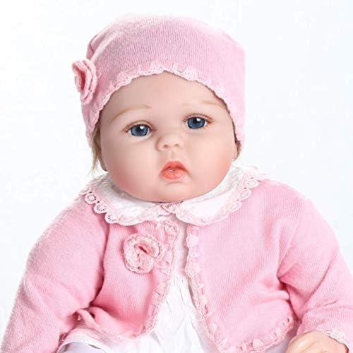 MAIHAO Reborn Bambole Bambolotti di Silicone Ragazza Bambola Reborn Bambino Dolls Bambini Giocattolo Magnetica Bocca 22 Pollici Neonato