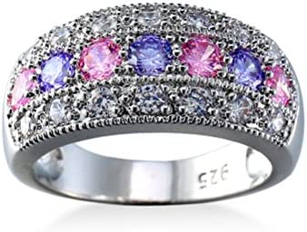 Anbover Crystal Engagement Rings Best Promise Rings Anniversary