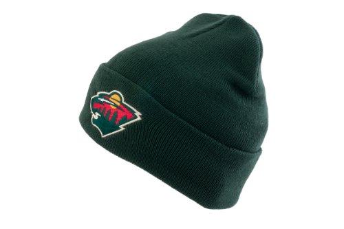 fan products of NHL Hockey American Needle Minnesota Wild Basic Green Knit Hat