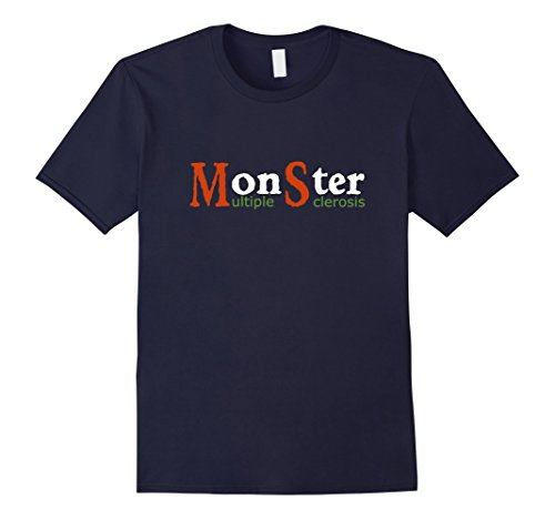 Mens Multiple Sclerosis Monster MS Awareness Color Tee Shirt 3XL Navy (Ms Awareness Color)
