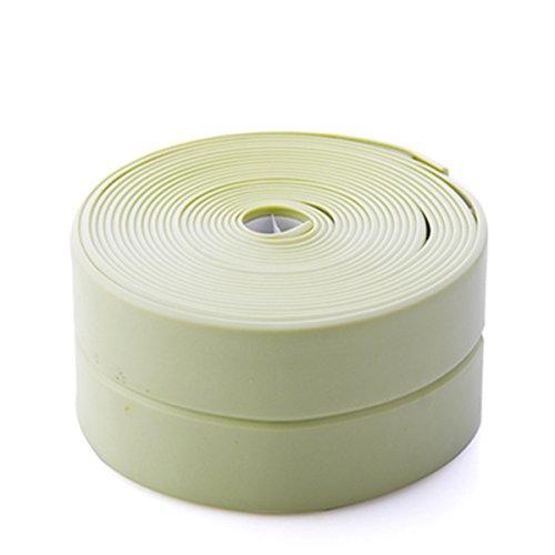 ECYC Waterproof Adhesive Tape Kitchen Sink Joint Crevice Sticker Green Mildew Proof Caulk Sealer,1.5'' by ECYC