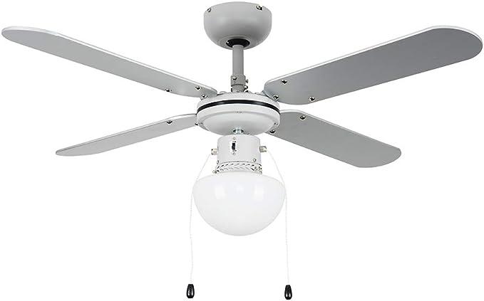 MiniSun - Ventilador de Techo con Luz LED/ Tamaño 106cm ...