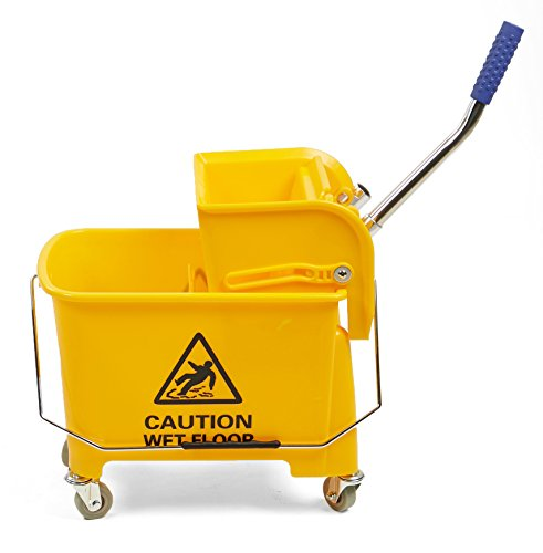Mind Reader Commercial Mop Bucket - with Down Press Wringer - 22 Quart Capacity - Yellow by Mind Reader (Image #6)