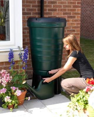 190 L contenedor de agua de lluvia Lluvia colección almacenamiento nuevo redondo para depósito de agua: Amazon.es: Jardín