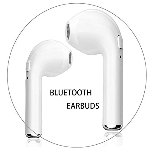 Wireless Headphones, Bluetooth Earbuds Stereo In-Ear Earpieces with 2 Built-in Mic Earphone for iPhone X 8 8plus 7 7plus 6S Samsung Galaxy S7 S8 IOS Android Smart Phones