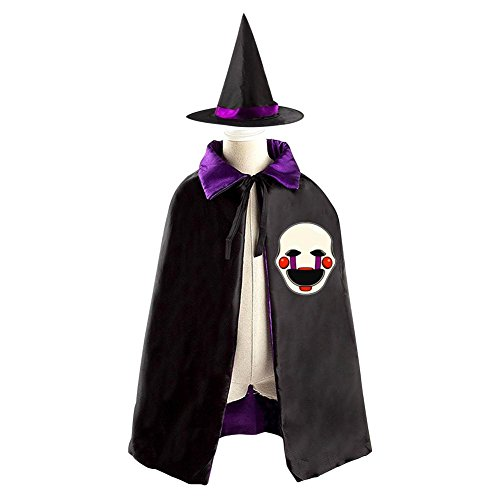 Children Five Nights at Freddy Marionette Halloween Christmas Cloak With Hat Witch Costume (Magic Mike Halloween Outfits)