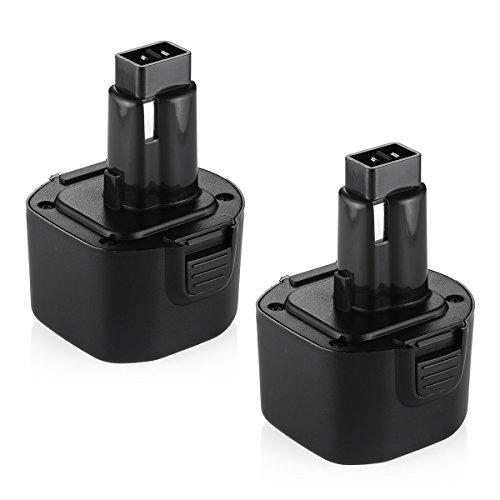 Powerextra 9.6V Battery for Dewalt Dw9061 Dw9062 De9036 De9062 Dw9614 Dw050 Dw902 Dw911 Dw921 Dw926 Dw926k Dw926k2 Dw955 Dw955k2 Dw967k;Black and Decker PS120 Fire Storm Replacement Power Tool Battery