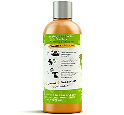 Hypoallergenic Natural Certified Organic Oatmeal Pet Wash Dog Shampoo & Conditioner with Aloe Vera-Medicated/Vet Recommended Anti-Itch Formula for Allergies & Sensitive Itchy Skin 17oz