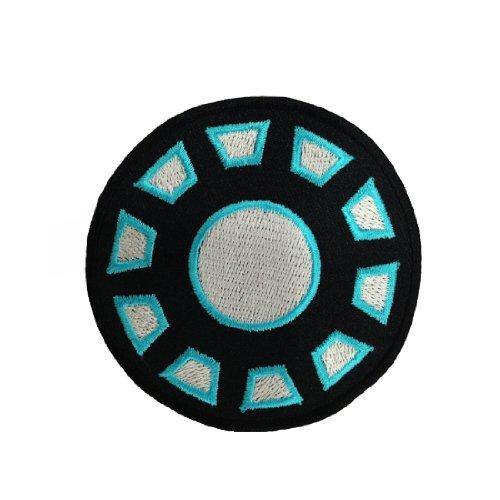 Iron Man Iron Arc Reactor Logo Embroidered Iron Patches Logo Arc