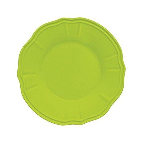 23 x 23 x 4 cm in melamina Baci Piatto fondo 1 pezzo Verde