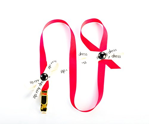 Zip My Dress Premium Zipper Puller with Magenta Pink Ribbon