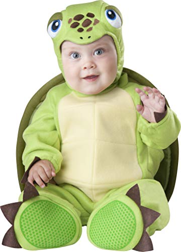 InCharacter Baby's Tiny Turtle Costume, Green, X-Small