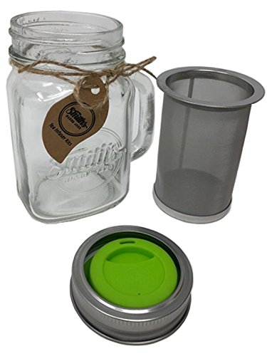 Smith's Mason Jars Cold Brew Coffee Maker and Tea Infuser with Mug and Drinking Lid by Smith's Mason Jars (Image #4)