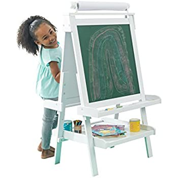 Amazon Com Hape All In One Wooden Kid S Art Easel With