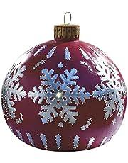 YJUdhef Bola Decorada Inflable Gigante del PVC de la Navidad