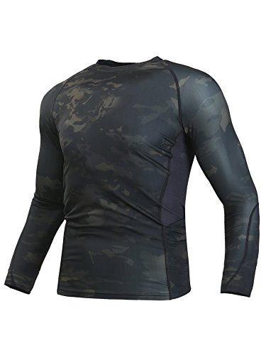 WARCHIEF Tactical Long Sleeve Shirt Camouflage Military T-Shirt Sportswear ()