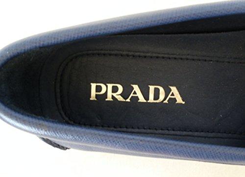 Prada Scarpe Mocassino Uomo Pelle Saffiano 2DD001 053 F0216 05 Bluette