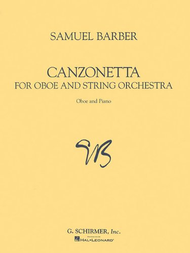 Canzonetta for Oboe and Piano