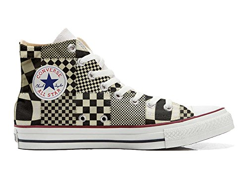 Converse All Star personalisierte Schuhe - HANDMADE SHOES - Pachtwork Texture