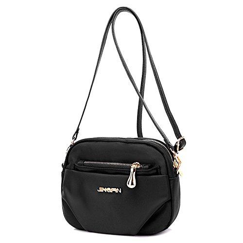 Bolsos, bolsos de la momia, bolso de hombro de nylon, señoras simple oxford salvaje paño mini bolso de hombro ( Color : Azul ) Negro