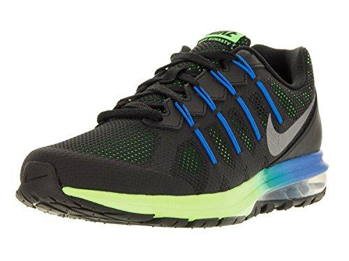 Nike Mens Air Max Dynasty Running Shoe, Black/Metallic Cool Gray/Electric Green/Photo Blue, 45 D(M) EU/10 D(M) UK