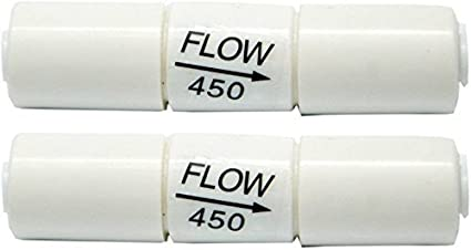 PARIJATA Flow Restrictor 450 for Water Purifiers - Set of 2 (White)