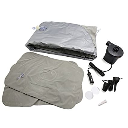 eDealMax gris Flocado de aire inflable colchón de la cama de coche cama que se reclina