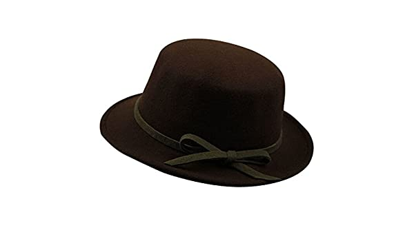 746716a58c54f The Trendy Elegant Bowknot Flat Top Party Hats  Fedora  Coffee at Amazon  Women s Clothing store