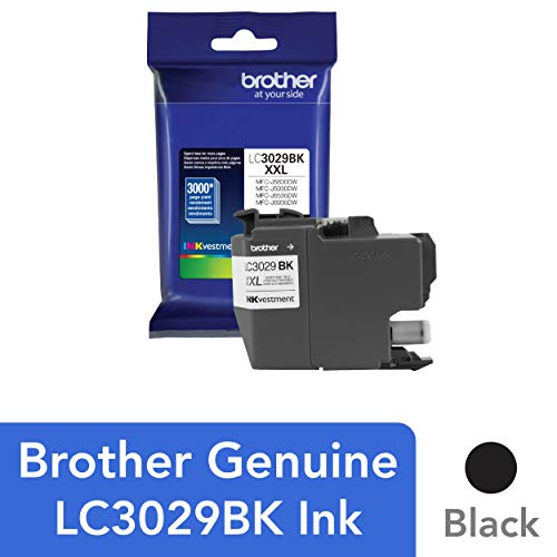 (Brother Genuine Super High Yield Black Ink Cartridge, LC3029BK, Replacement Black Ink, Page Yield Up To 3000 Pages, Amazon Dash Replenishment Cartridge, LC3029)