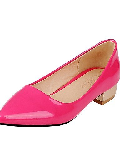 GGX/Damen Schuhe Patent Leder Sommer/spitz Toe Heels Büro & Karriere/Casual Chunky Ferse othersblack/Pink/Weiß fuchsia-us5 / eu35 / uk3 / cn34