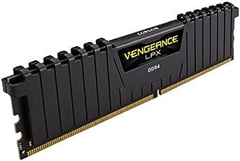 Corsair CMK16GX4M2A2400C14 RAM Memory Kit, Vengeance LPX, 2x8 GB, DDR4, Dram, 2400 MHz, Black