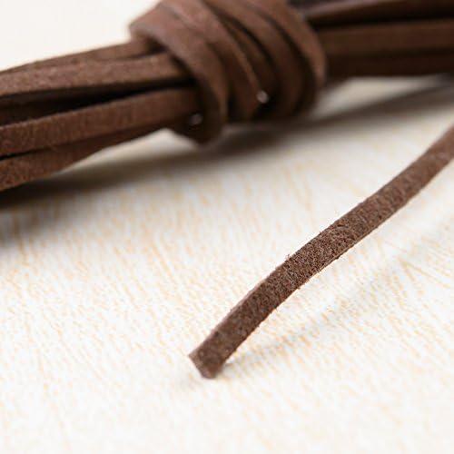 スエード紐 ブラウンB 1m 合皮 紐 ペンダント ハンドメイド 材料 パーツ アクセサリーパーツ