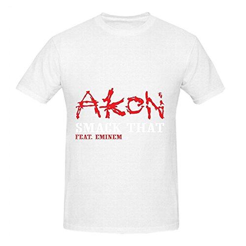 Akon Smack That Tour Tracks Men O Neck Short Sleeve Shirts White