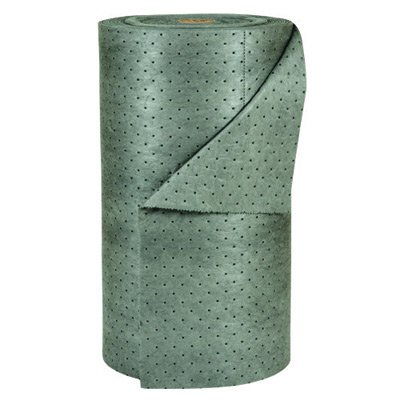 Brady USA MRO30 30'' x 150' SPC MRO Plus Gray 3-Ply Meltblown Polypropylene Dimpled Full Size Heavy Weight Sorbent Roll, Perforated Every 15'', 15.34 fl. oz., 1'' x 1800'' x 15'' (1 Per Box)