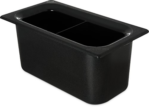 Carlisle CM110303 Coldmaster 6 inch D Third Size Divided Insulated Cold Food Pan, 3.4 Quart, Black