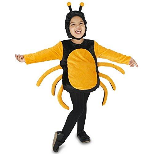 Black & Orange Spider Toddler Dress Up Costume 2-4T