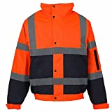 Product review for MEN'S HIGH VISIBILITY BOMBER JACKET WORK WEAR WATERPROOF PADDED HOODED JACKETS