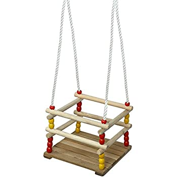 PELLOR Baby Toddler Wooden Swing Seat Hammock Chair 70Kg Max Load 118x11