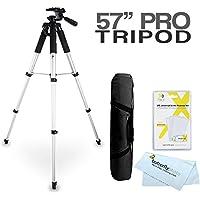 57 Tripod Kit For The Canon SX510 HS, SX520 HS, SX720 HS, S120, SX500 IS, SX280 HS, SX150 IS, SX400 IS, G12, G1 X, G1X, SX50 HS, G15, G16, SX60 HS, G3 X, G1X Mark II, G9 X, G5 X, G7 X, G7 X Mark II Digital Camera