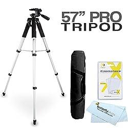 """57"""" Tripod Kit For The Canon Sx510 Hs, Sx520 Hs, Sx720 Hs, S120, Sx500 Is, Sx280 Hs, Sx150 Is, Sx400 Is, G12, G1 X, G1x, Sx50 Hs, G15, G16, Sx60 Hs, G3 X, G1x Mark Ii, G9 X, G5 X, G7 X, G7 X Mark Ii Digital Camera"""