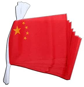China bandera banderines de poli ster 6 m jard n for Banderas decorativas para jardin