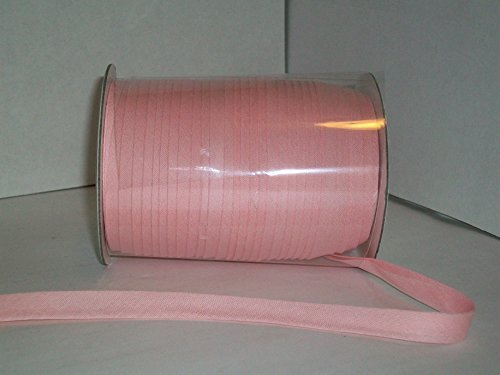 Light Pink Double Fold Bias Tape 50 Yds. 1/2 Inch by MJ's Crafts & More